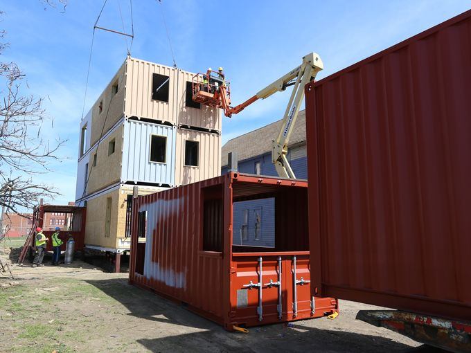 Shipping container house projects